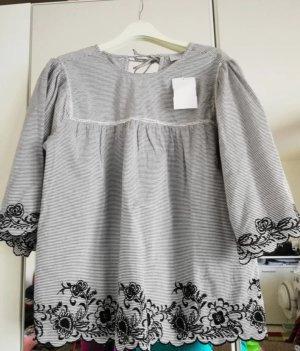 Bodyflirt Shirt wit-zwart