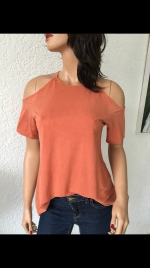 Zara Cut Out Top apricot-salmon