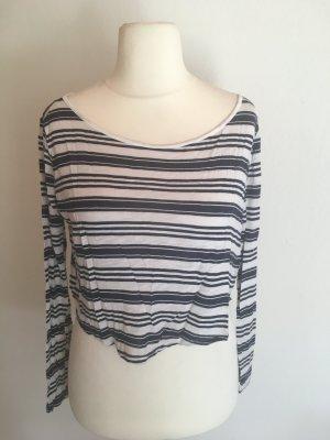 Shirt Oberteil Cropped Longsleeve oversized gestreift Gr. XS