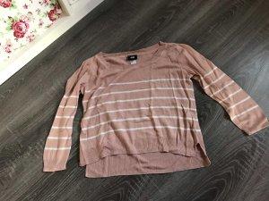 Shirt Oberteil gestreift rosa weiß Basic