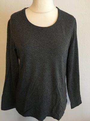 Shirt Oberteil Langarmshirt Longsleeve grau Basic