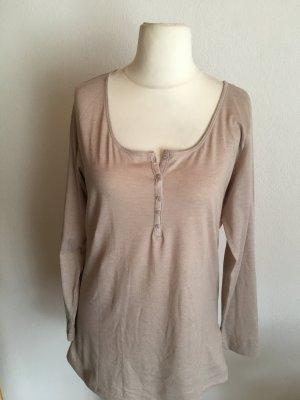 Shirt Oberteil Langarmshirt Longsleeve Longshirt beige
