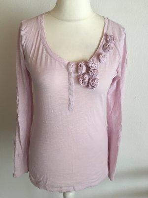 Shirt Oberteil Langarmshirt rosa pastell süß romantisch Gr. S