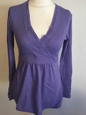 Shirt Oberteil Langarmshirt Tunika lila lavendel Gr. 40