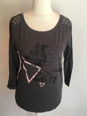 Shirt Oberteil leicht 3/4 Ärmel anthrazit Gr. S