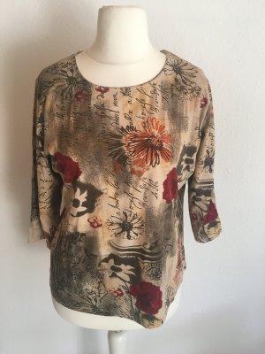 Shirt Oberteil locker 3/4 Ärmel mit Print Gr. L