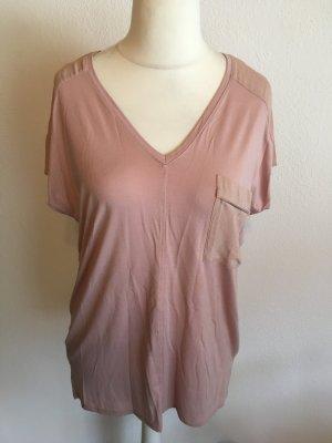 Shirt Oberteil Longshirt locker oversized nude Gr. M