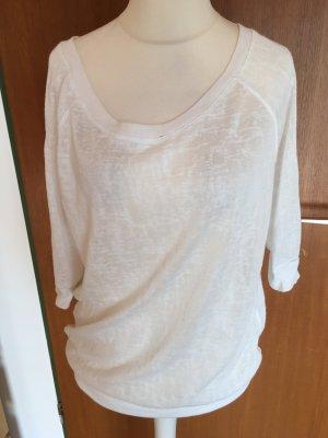 Shirt Oberteil pulli leicht weiß Basic oversized Gr. M TOP