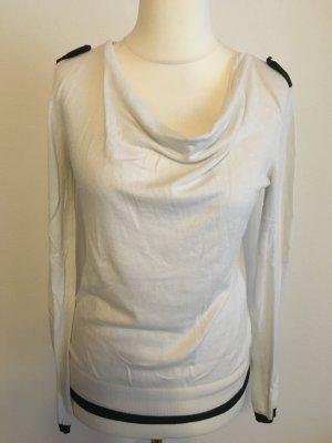 Shirt Oberteil Pullover schwarz weiß Wasserfall Gr. S 1-2-3 Paris