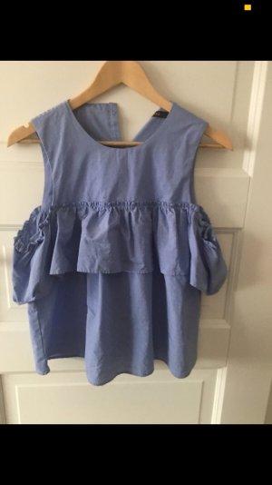 Reserved Ruche blouse veelkleurig
