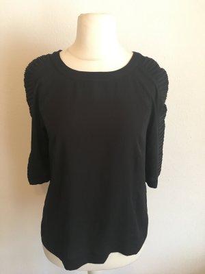 Shirt Oberteil schwarz 3/4 Lamellen Ärmel Gr. M TOP
