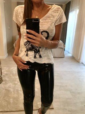 One Shoulder Shirt white-black