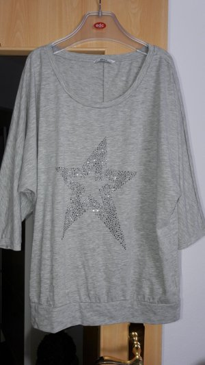 Only Oversized Shirt silver-colored cotton