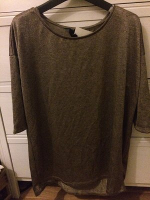 Shirt Oversize H&M metallic gold