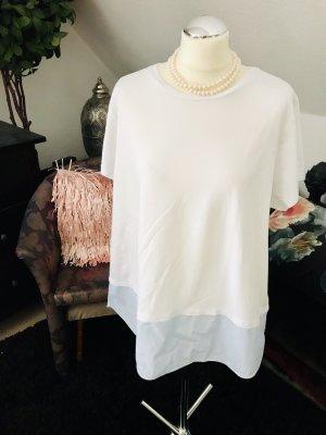 H&M Oversized Shirt white-azure