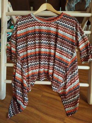 Shirt, Oversize, ONLY, Orange, Beige, Braun, Gr. M