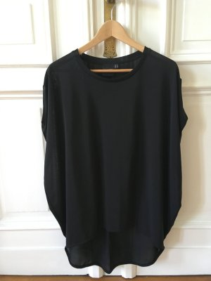 Asos Petite Top extra-large noir polyester
