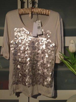 Shirt Pailetten NEU cremeweiß Oui