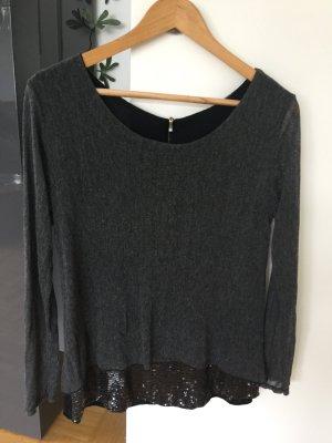 Shirt Paillettenverzierung grau S