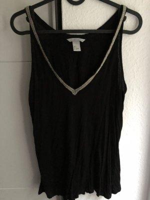 Shirt Perlen schwarz