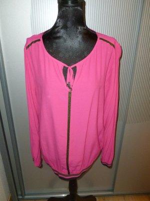 Shirt pink grau Crisca Biba