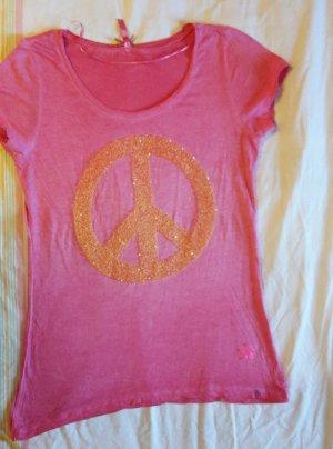 key largo girls Camiseta estampada rosa neón-naranja