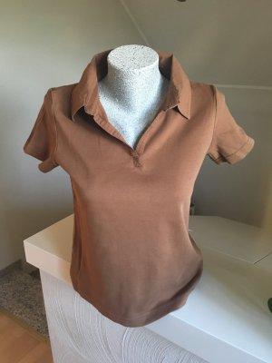 Shirt, Poloshirt, Cecil, braun, Größe M