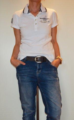 Shirt Poloshirt Gaastra weiß M 38 limitiert