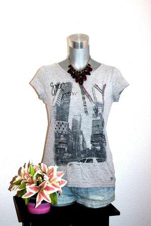 Print Shirt grey-pink