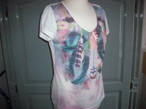 Shirt -Print und Strass-steinchen Gr.38-40