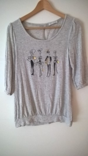 Promod Camiseta estampada gris claro