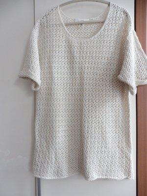 Shirt Pulli Lochstrick Creme XL