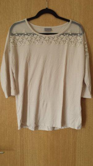 Shirt Pulli mit Spitzeneinsatz edle Spitze