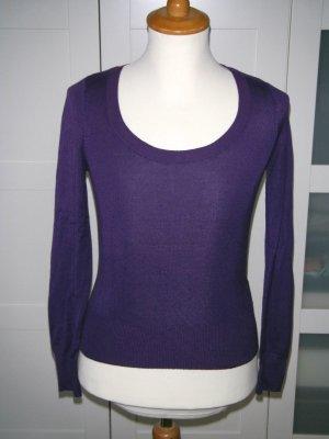 Shirt, Pullover, Pulli, Pimkie, Langarmshirt, Rundhalsausschnitt, lila, Gr. S