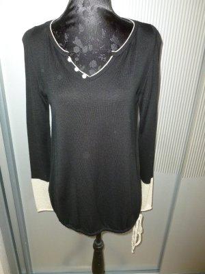 Shirt Pullover schwarz beige Promod