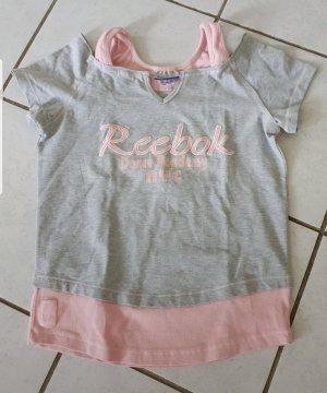 Reebok Camisa deportiva gris claro-rosa claro