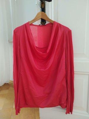 René Lezard Cowl-Neck Shirt red mixture fibre