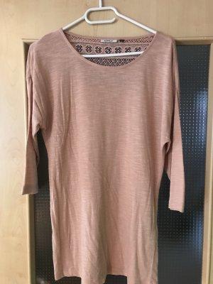 Only Crochet Shirt dusky pink
