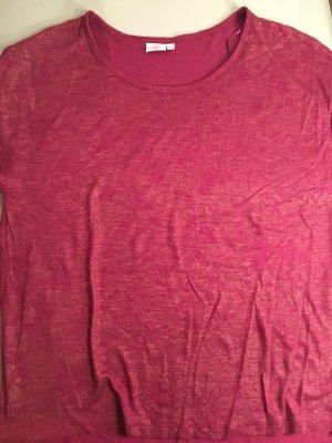 Shirt rosa mit goldenen Webfäden, Gr. 46/48 wie NEU