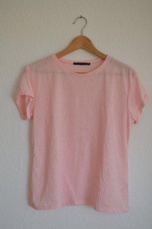 Shirt rosa perforiert gestanzt Blumen