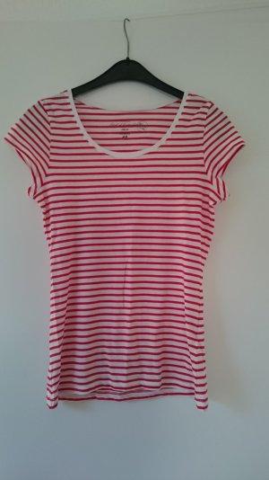 Shirt rot weiß gestreift