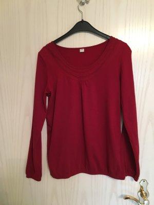 s.Oliver Camisa rojo oscuro