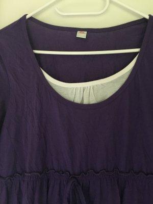 s.Oliver Camisa tipo túnica lila-blanco