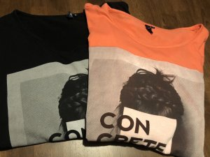 Shirt s.Oliver lachsfarben & schwarz Größe S
