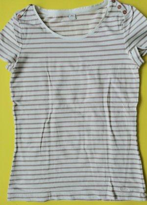 s.Oliver Gestreept shirt wit-beige