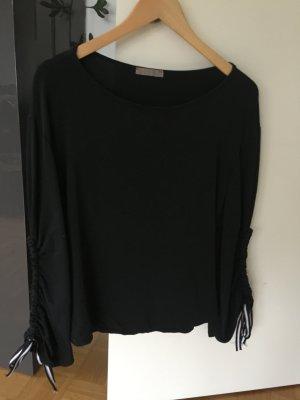 Boothalsshirt zwart Katoen