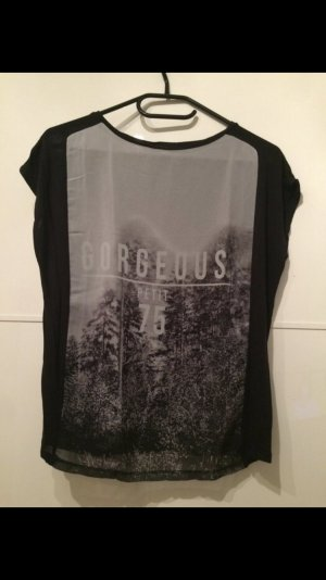 Shirt schwarz durchsichtig