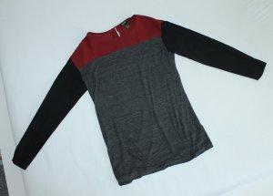 Shirt schwarz grau rot