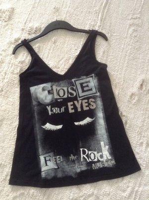 Shirt / schwarz-grau-Silber / Gr. 36 S