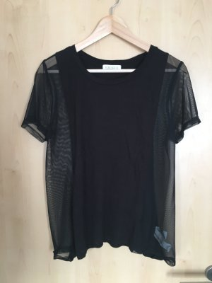 Shirt Schwarz Mesh Forever 21